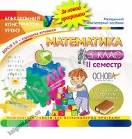 Електронний конструктор уроку Математика 3 клас ІІ семестр За підручником Рівкінд Ф. Вид-во: Основа