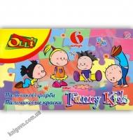 Пальчиковые краски OLLI Funny Kids 6 цветов по 35 мл OL-35D