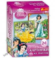 Картинка из блесток Жасмин и Белоснежка Disney 5+ Код: 13153011Р Изд: Ранок
