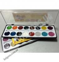 Фарба акварельна медова 16 кольорів Вид: Тетрада