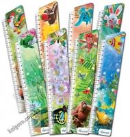 Закладки для книг картонные набор 8 штук BM-3905 Животные оригами Изд: Бумагия