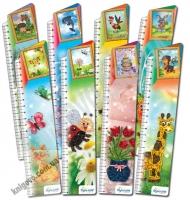Закладки для книг картонные набор 8 штук Орнаменты BM-3912 Изд: Бумагия