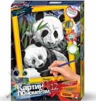 Картина по номерам Панды Код: KN-01-01 Изд: Danko Toys