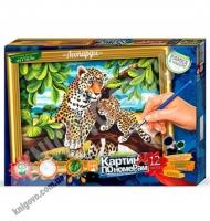 Картина по номерам Леопарды Код: KN-01-03 Изд: Danko Toys