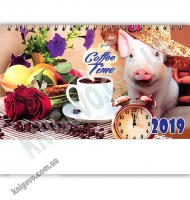 Перекидной настольный календарь 2019 Сoffee Time