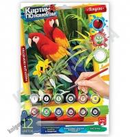 Картина по номерам Попугаи Код: KN-01-02 Изд: Danko Toys