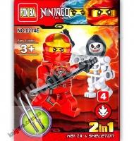 Конструктор Ninjago 2 в 1 Красный Изд: Danko Toys