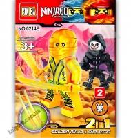 Конструктор Ninjago 2 в 1 Золотой Изд: Danko Toys