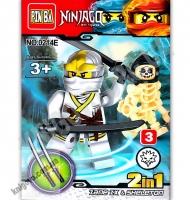 Конструктор Ninjago 2 в 1 Белый Изд: Danko Toys