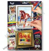 Раскраска карандашами по номерам Лошадка Код: PBN-01-03 Изд: Danko Toys