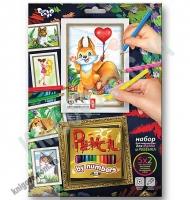 Раскраска карандашами по номерам Белочка Код: PBN-01-06 Изд: Danko Toys
