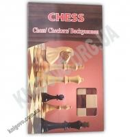Сhess Настольная игра Шахматы деревянные в коробке SHANTOU