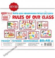 Правила нашого класу Rules of our class Набір карток для оформлення інтер`єру класу НУШ Вид: Ранок
