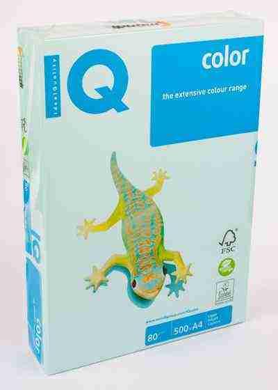 Папір кольоровий А4, 500 аркушів 80 г/м2 Mondi IQ Морська хвиля пастель №29