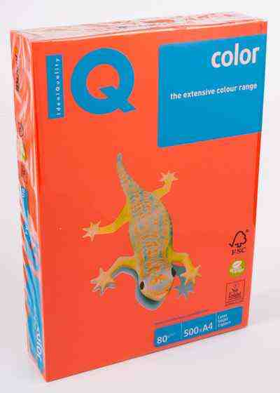 Папір кольоровий А4, 500 аркушів 80 г/м2 Mondi IQ Цегляний інтенсив №ZR09