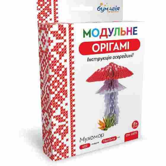 Модульне орігамі Мухомор 422 модуля OM-6078 Бумагія