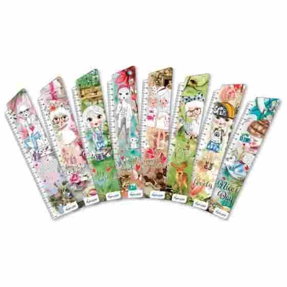 Закладки для книг картонные набор 8 штук BM-4889 Стильные девушки Бумагия