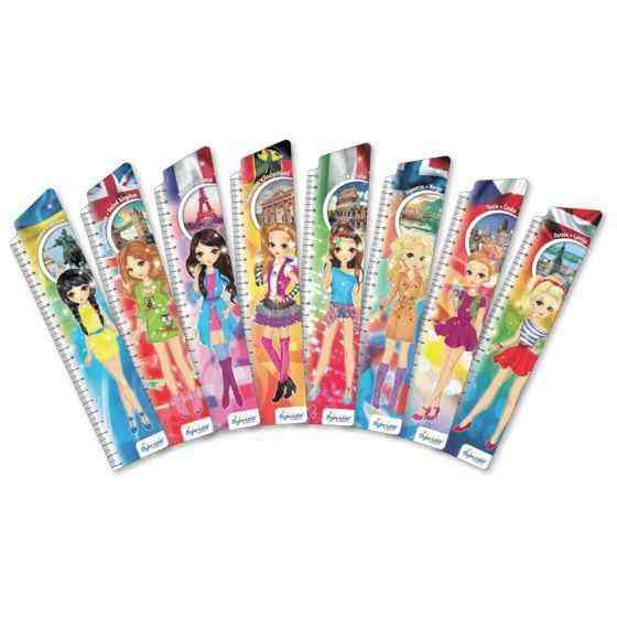 Закладки для книг картонные набор 8 штук BM-4858 Девушки Европы Бумагия
