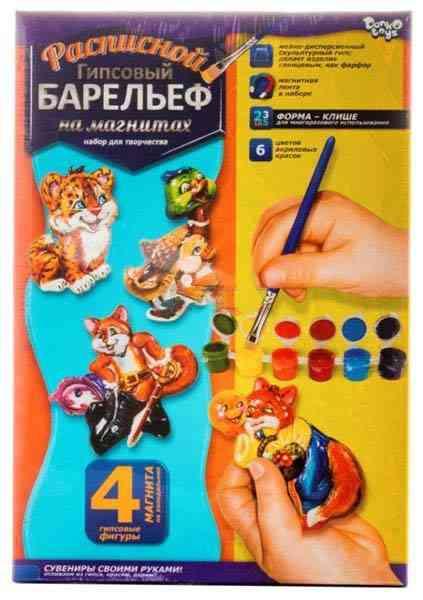 Расписной гипсовый барельеф на магнитах Сказочные персонажи Код: RGB-02-10 Danko Toys