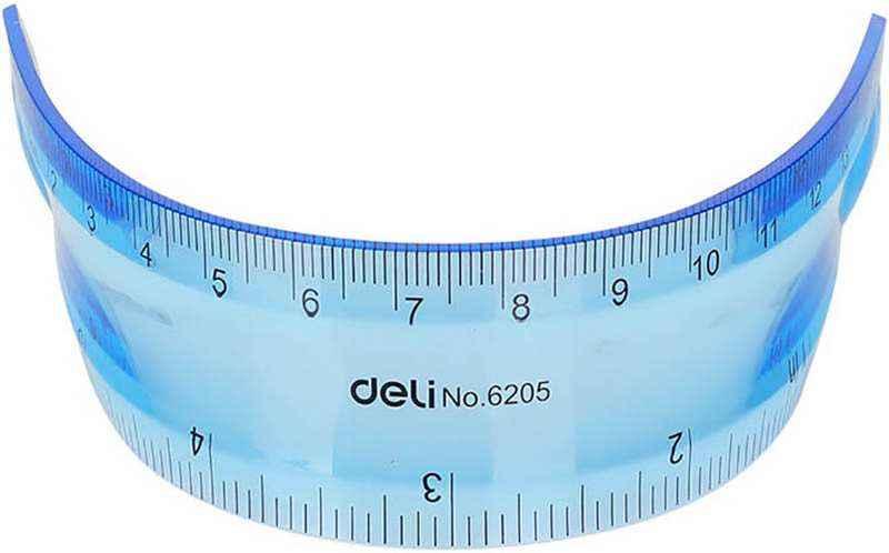Лінійка Deli Ruler Незламайка 15 см в асортименті 6205 мiкс