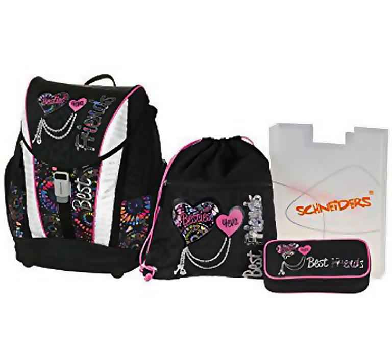 Ранець Schneiders 78414-080 чорний Best Friend рюзкак + сумка для взуття + пенал пiд наповн.+ пенал
